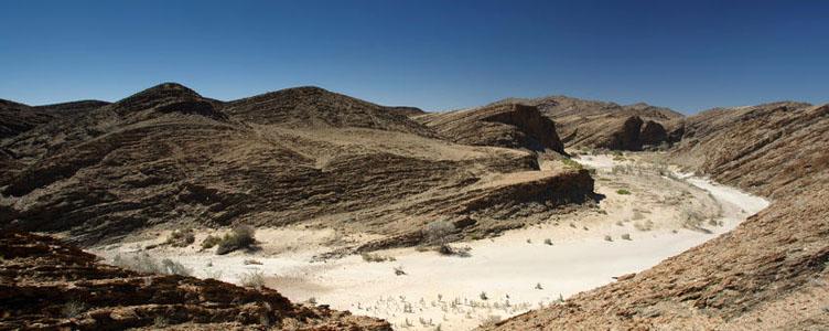 Le Canyon de la Kuiseb dans le désert du Naukluft