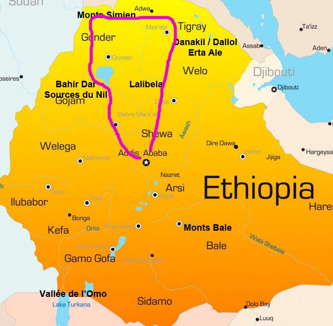 Carte Ethiopie Nord Samsara Voyages