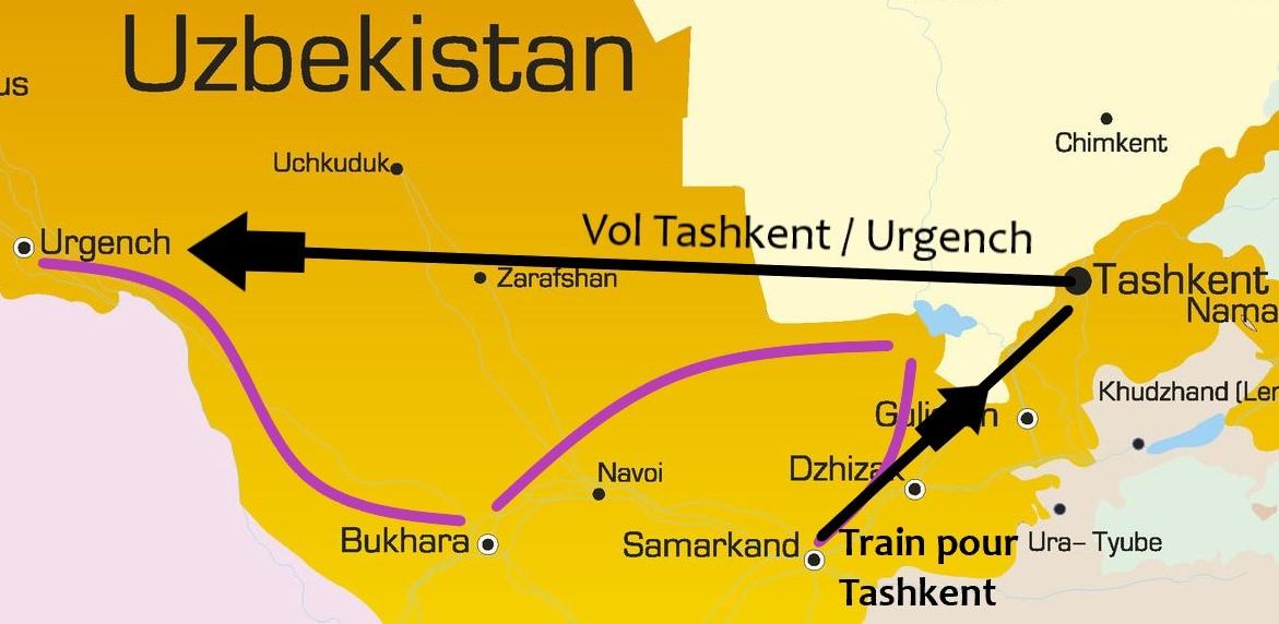 Carte voyage Ouzbekistan Samsara