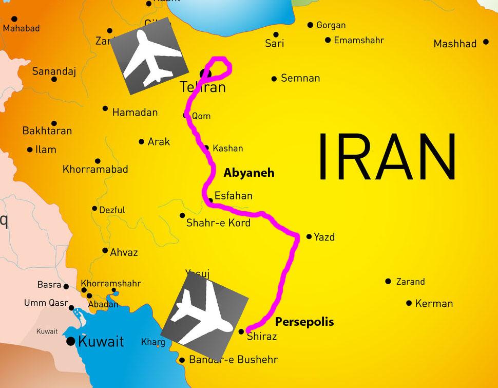 Carte circuit essentiel Iran Samsara Voyages