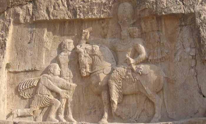 Bas relief de Naqsh-e-Rostam circuit en Iran