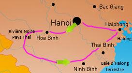Carte Voyage Vietnam Nord samsara