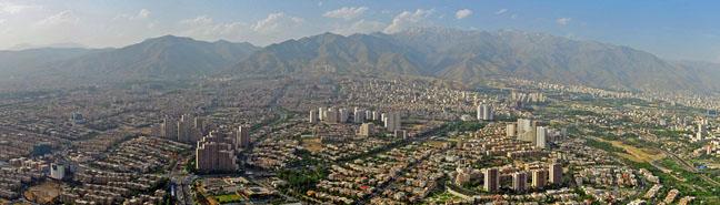 Vue de Teheran en Iran