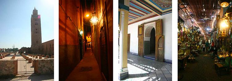 Mosquée et rues de Marrakech