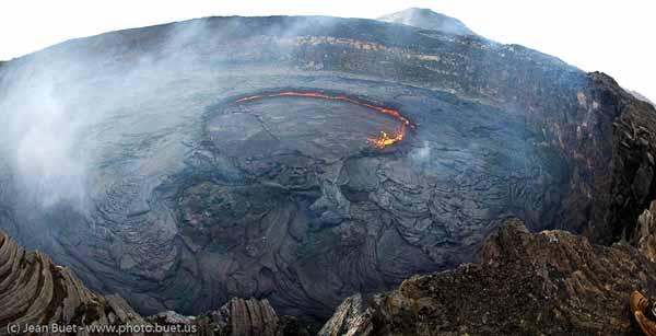 Cratère du volcan Erta Ale Erta Ale volcano crater