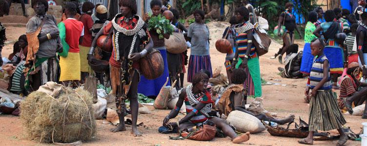 Marché Hamer vallée Omo Ethiopie