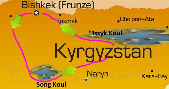 Carte circuit Kirghizie