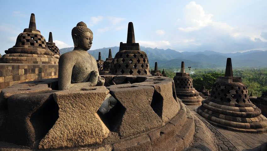 Voyage à Java, temple de borobudur