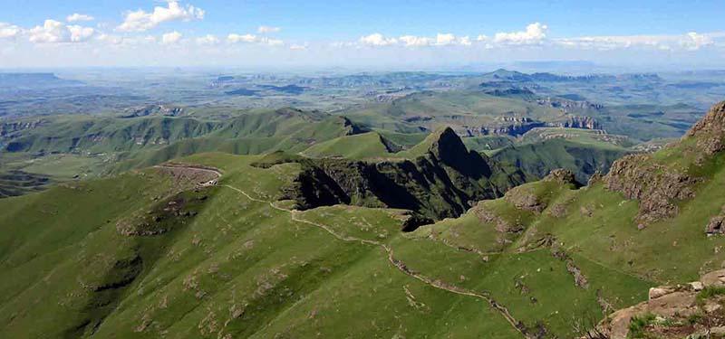 Vue sur l'Amphithéatre du Drakensebeg