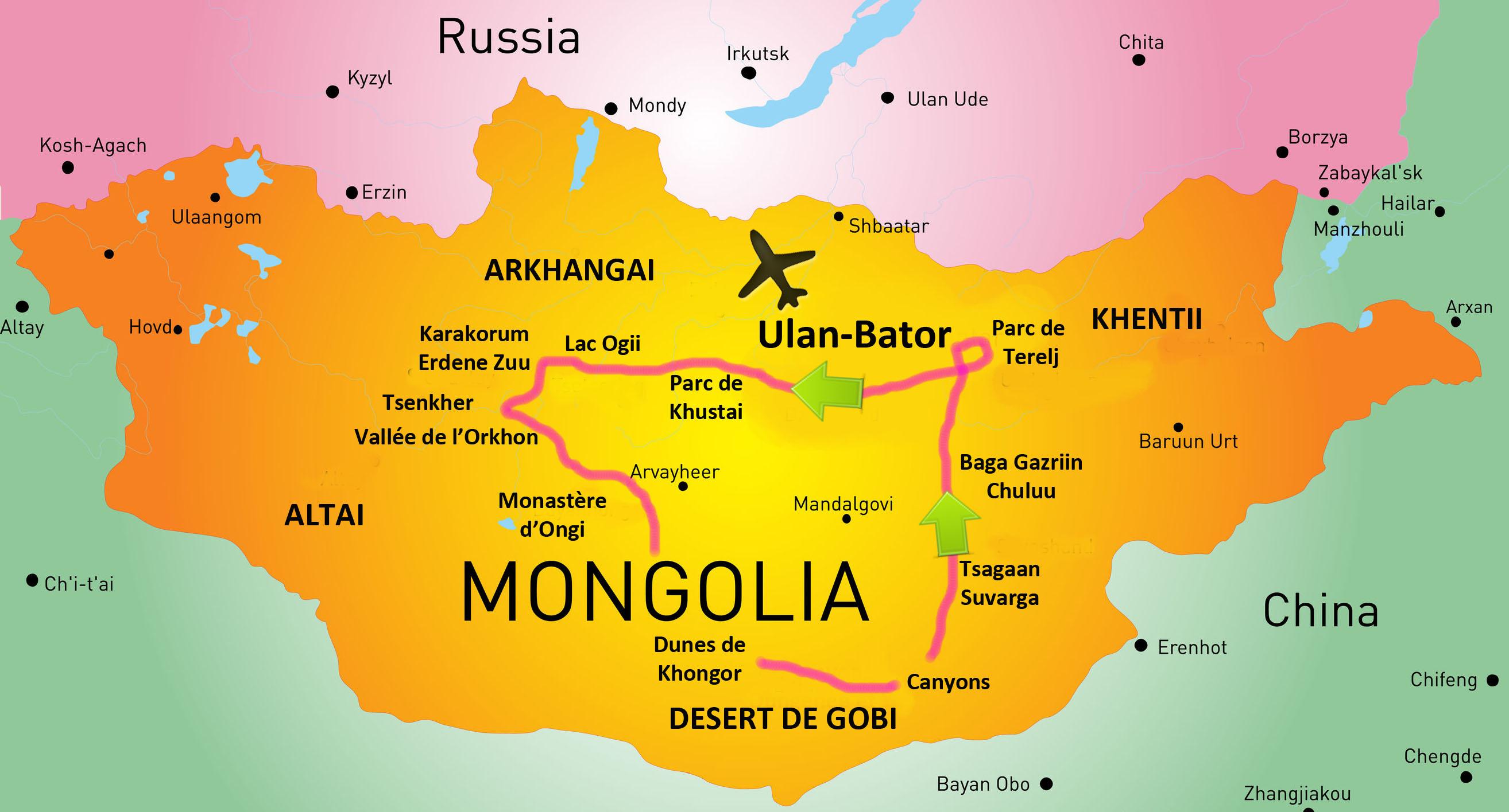 Carte Mongolie Samsara