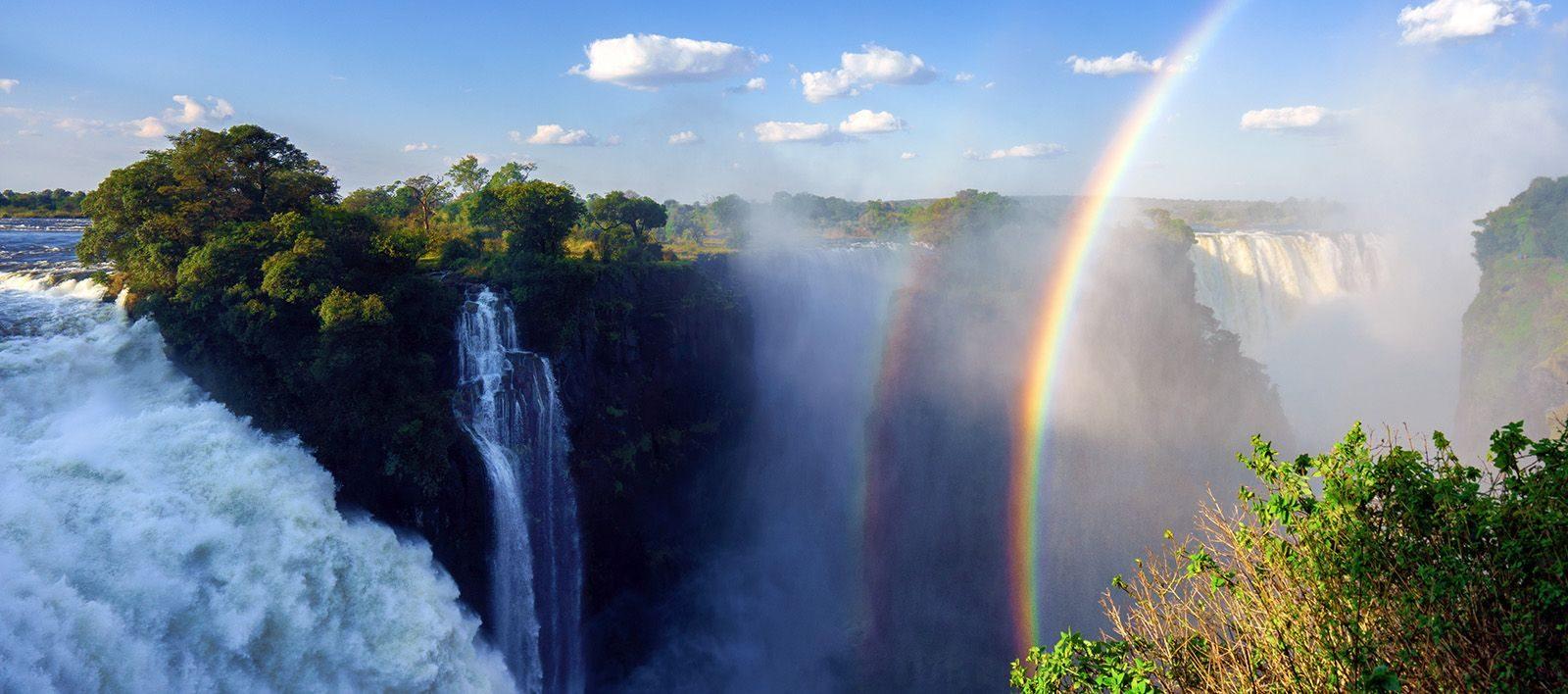 Vue des Chutes Victoria à Victoria Falls