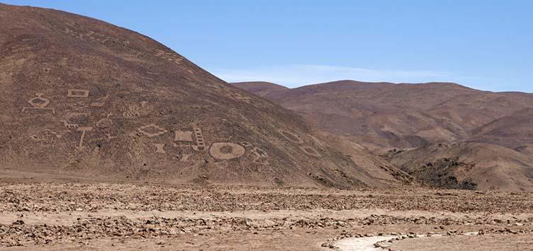 Vue sur les géoglyphes de Pintados