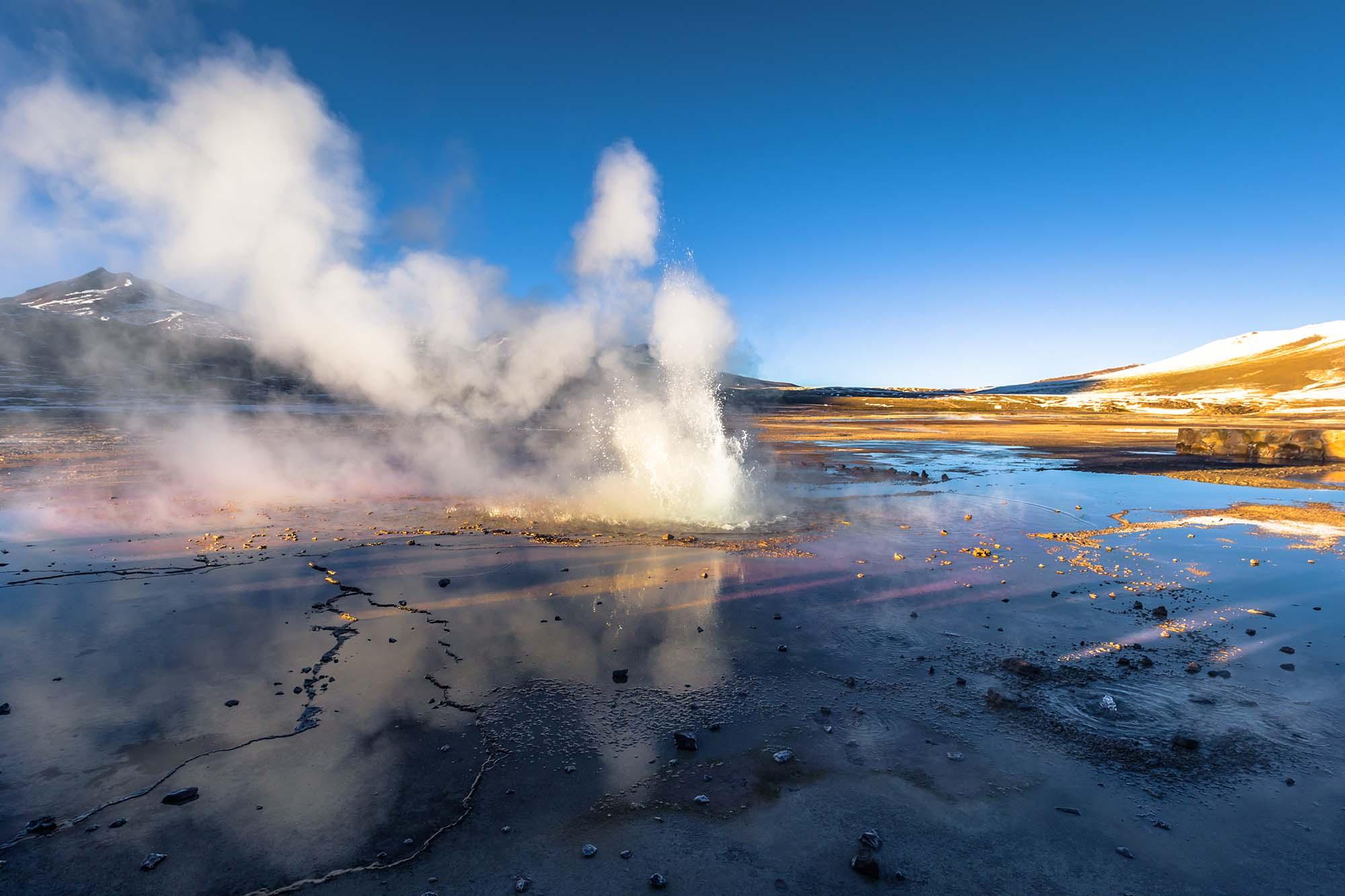 Circuit dans le désert d'Atacama à la découverte des geysers du Tatio au Chili
