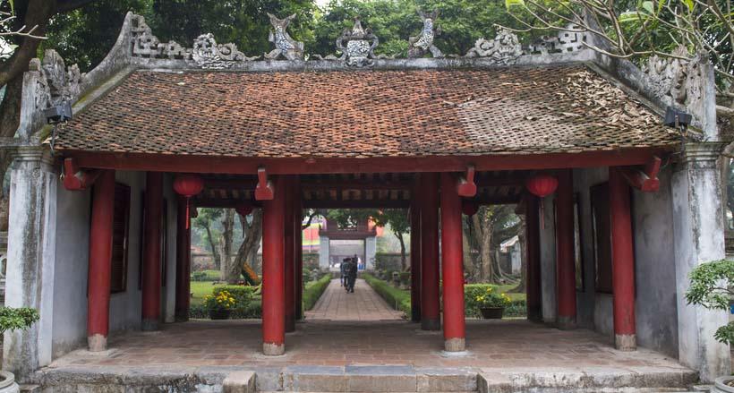 Porte de l'Univeristé de la littérature à Hanoï