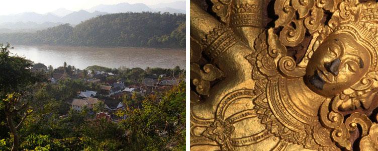 Luang Prabang rivière statut dorée Laos