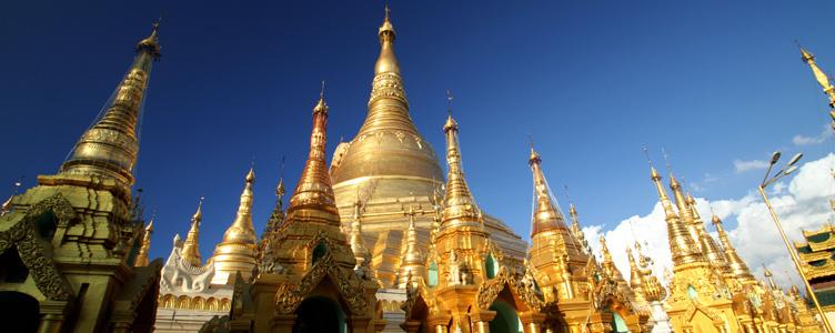 Pagode Shwedagon Rangoon circuit Myanmar