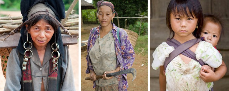 Samsara Voyages Laos femme Akha