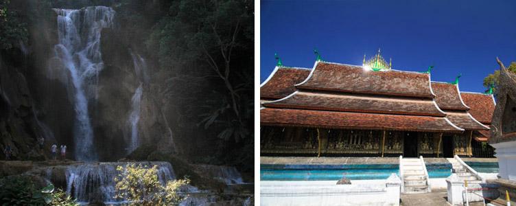 Voyage Laos Kuang Sy chutes temple