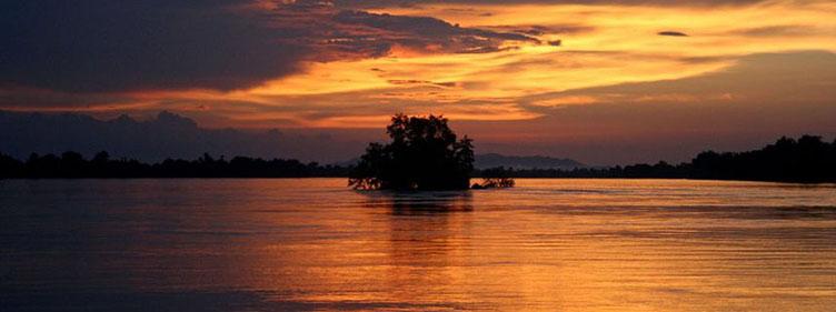 Coucher de soleil Laos