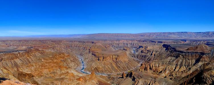 Oanorama de Fish River canyon