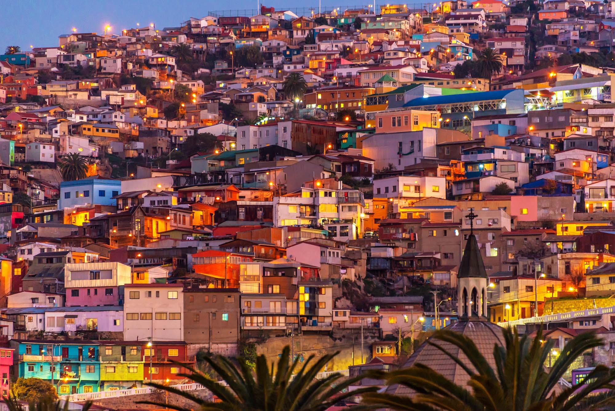 Visite de Valparaiso lors d'un circuit en Bolivie