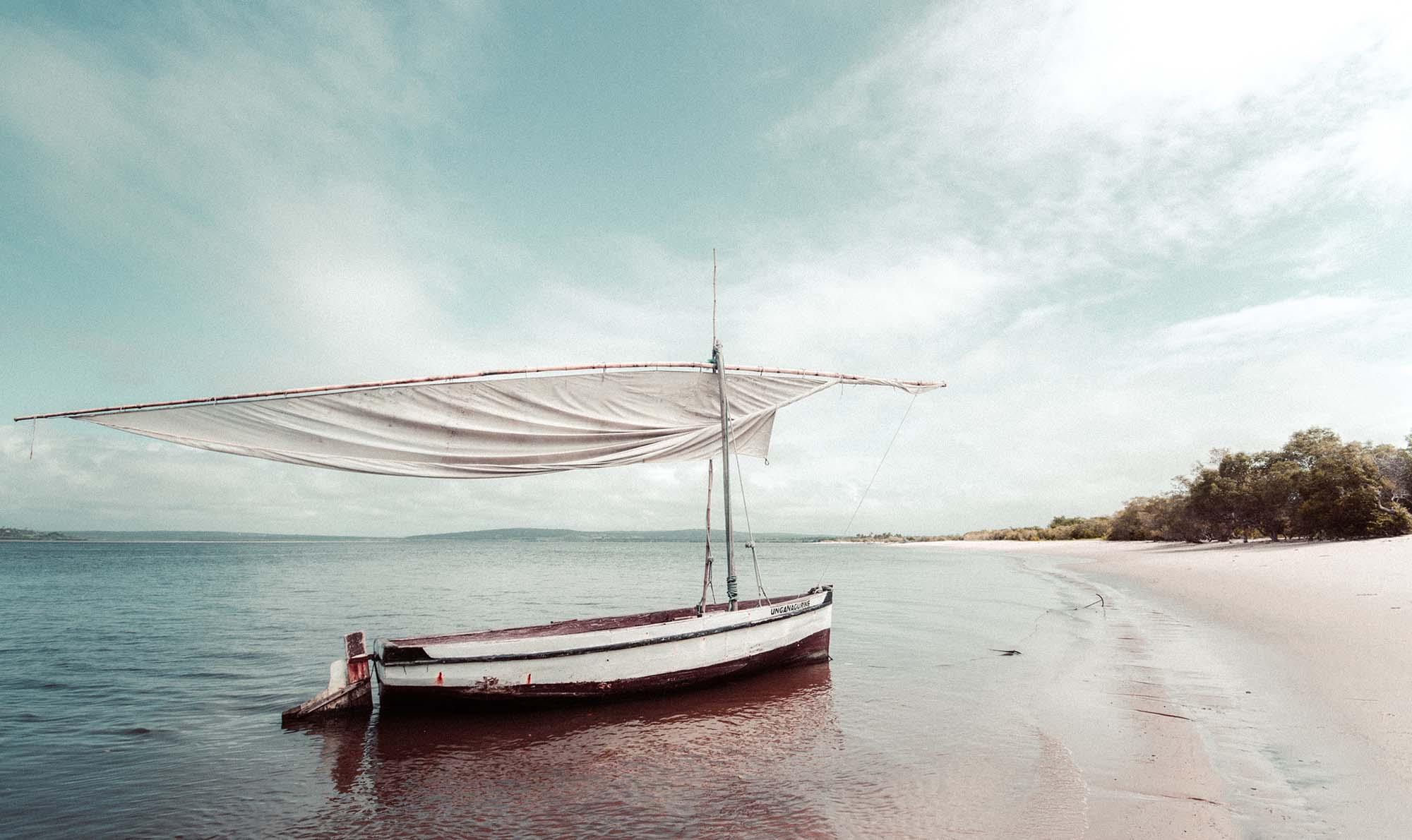 Mozambique, plage de l'ocean indien