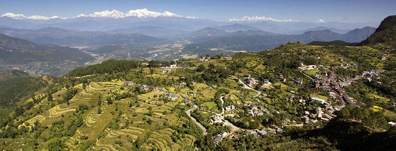 Vue sur la région de Pokhara